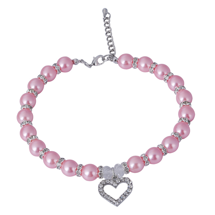 Lovely Pot Type With a Peach Heart Pendant Pet Collar Dog Collar Dog Harness Dog Nacklace XL004(China (Mainland))