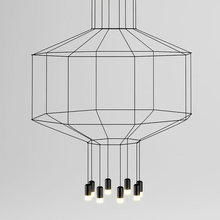 LED Modern Creative Pendant Lights Fixture Nordic Wire Droplight Home Indoor Lighting Loft Villa Restaurant Hanging Lamp 8 Light(China (Mainland))