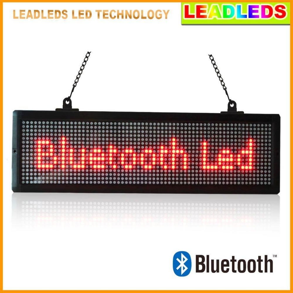 "20"" X 6.3"" P7.62 Bluetooth Led display indoor Programmable Scrolling Message led sign Board for Business and Store - Red Message(China (Mainland))"