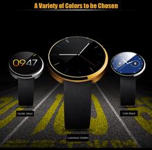 2015 Smartwatch moniteur de fréquence cardiaque capteur DM360 pour IOS et Andriod téléphone avec bluetooth montres hommes marque de luxe