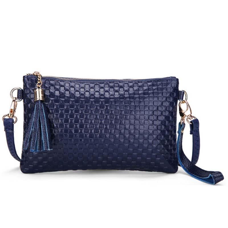 2016 New Fashion font b tartan b font design women cow leather handbags women s bag