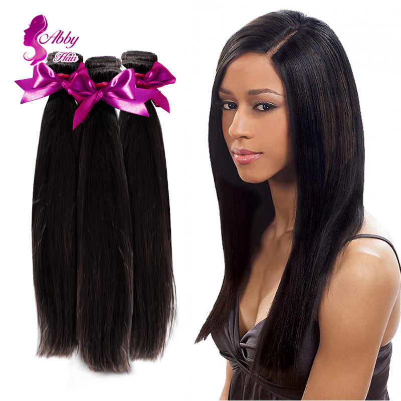 Mocha Hair Products Brazilian Virgin Hair Straight Mocha Hair Company 8A Yaki Straight Hair Cabelo Humano 3 Bundles Lot(China (Mainland))