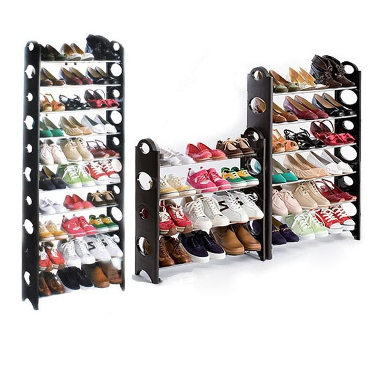 2015 New 30 Pair 10 Tier Home Shoe Rack Shelf Storage Closet Organizer Cabinet Portable DIY Shoe Hanger High Quality US51(China (Mainland))
