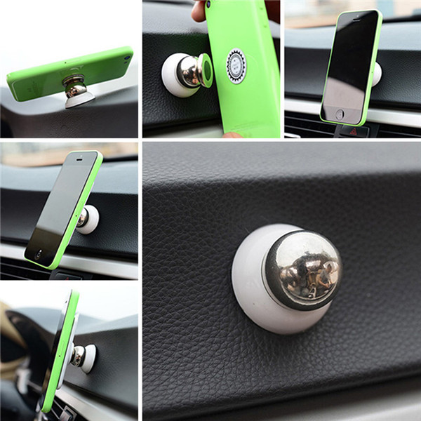 Universal Magnetic Car Phone Holder For Iphone Ipad For Samsung GPS Accessories Mobile Phone Car Holder Sticky Stand 360 Degrees(China (Mainland))