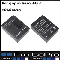 Hot Battery for Gopro Hero 3/ 3 + Rechargeable Battery (1050mAh) For Go Pro hero3 Plus Digital Camcorder Camera Accessories