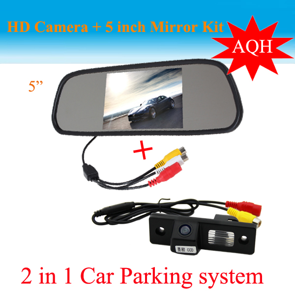 Promotion 2 in 1 car parking system CCD HD Car backup camera rear view camera + 5 inch HD car mirror monitor for Chevrolet Cruze<br><br>Aliexpress