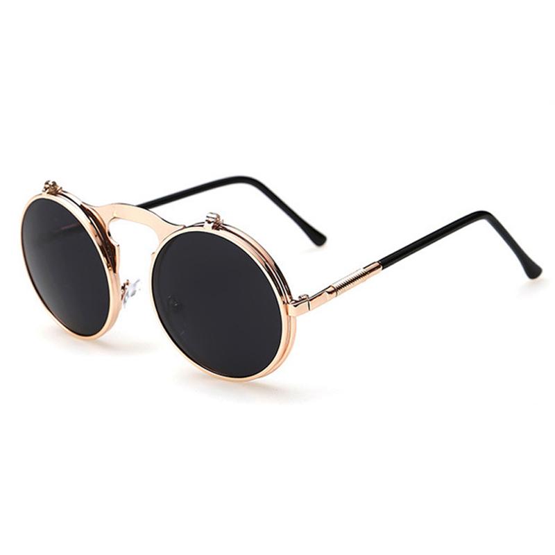 Designer Vintage Steampunk Round Sunglasses Metal Adult Glasses Women Sunglasses Men Retro Circle Sun Glasses Oculos de sol(China (Mainland))