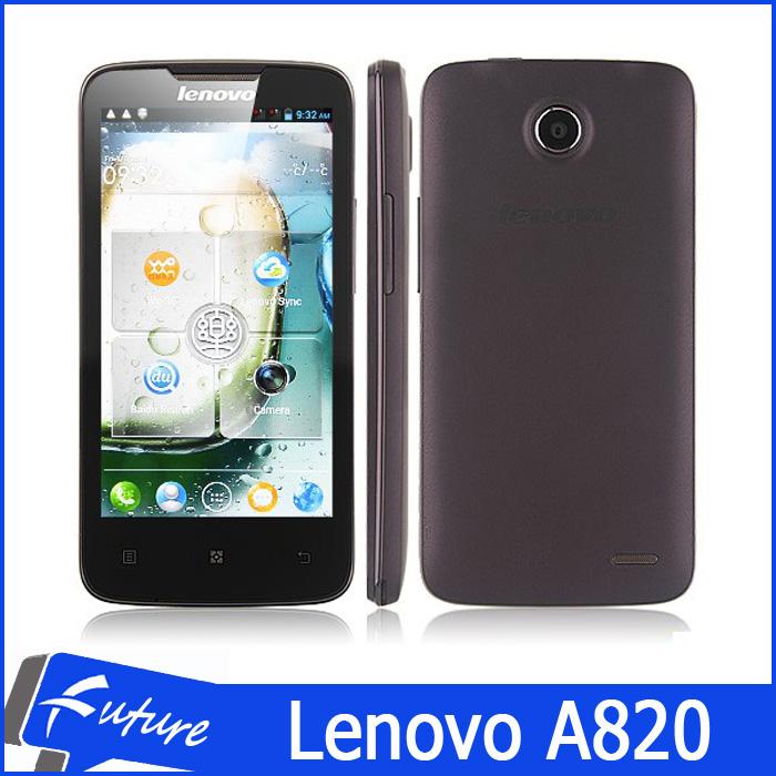 Original Lenovo A820 A820t mobile phone android 4.1.2 MTK6589 Quad core GPS 3G WCDMA 1GB RAM 4.5 inch dual SIM smartphone unlock(China (Mainland))