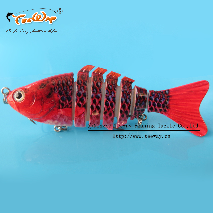 Гаджет  2PCS Fishing Lure 7 Segment Swimbait Crankbait Hard Bait Slow 14g 10cm Fish hook Fishing Tackle FL7-F01 None Спорт и развлечения