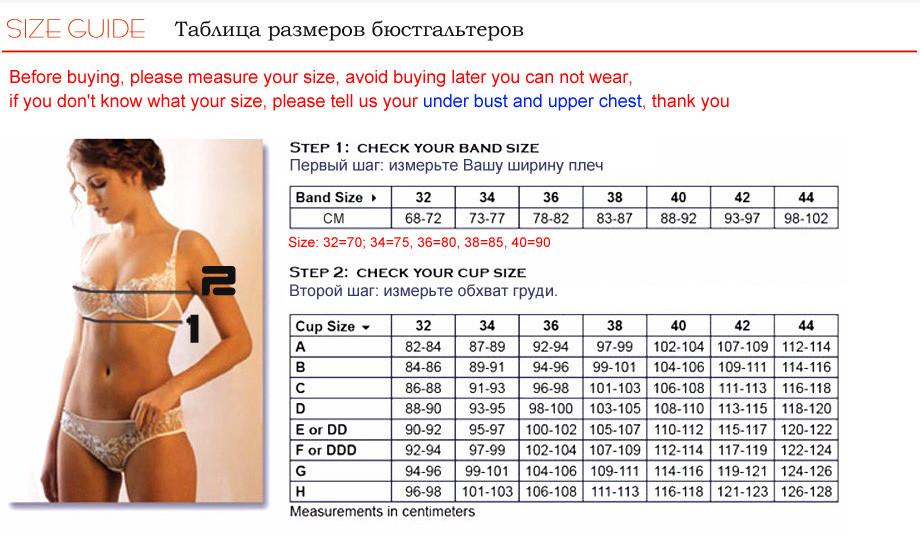 Комплект нижнего белья 2016 transparente calcinha e sutia /32/42 b c #568843