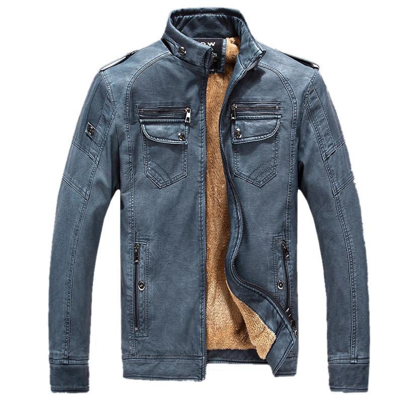 Men's leather jacket Men Winter Casual Coat Size M-XXXL(China (Mainland))