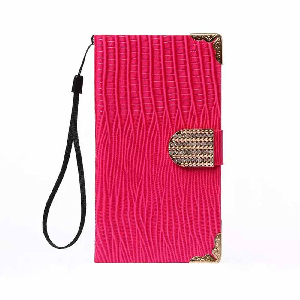 Luxury Lizard Diamond Wallet flip Leather Mobile Phone Bag cover Case for Apple iPhone 6 Plus / 6S Plus 5.5 inch With stand(China (Mainland))