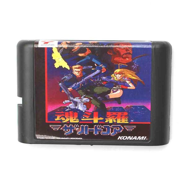 Games Cartridge - Contra (Japanese) For 16 bit Sega MegaDrive Genesis Sega Game console<br><br>Aliexpress