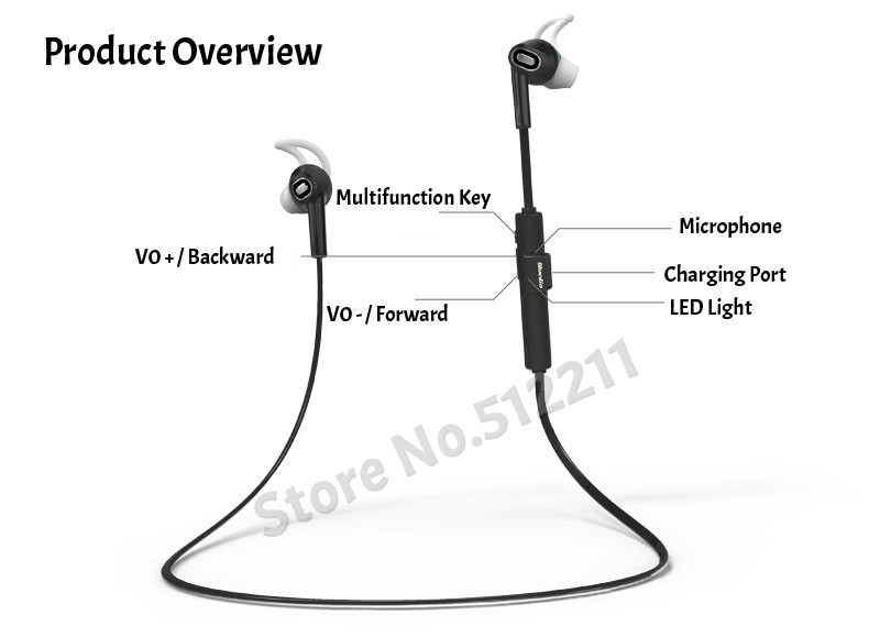 2015 New Bluedio M2 In-ear Wireless Bluetooth Headset