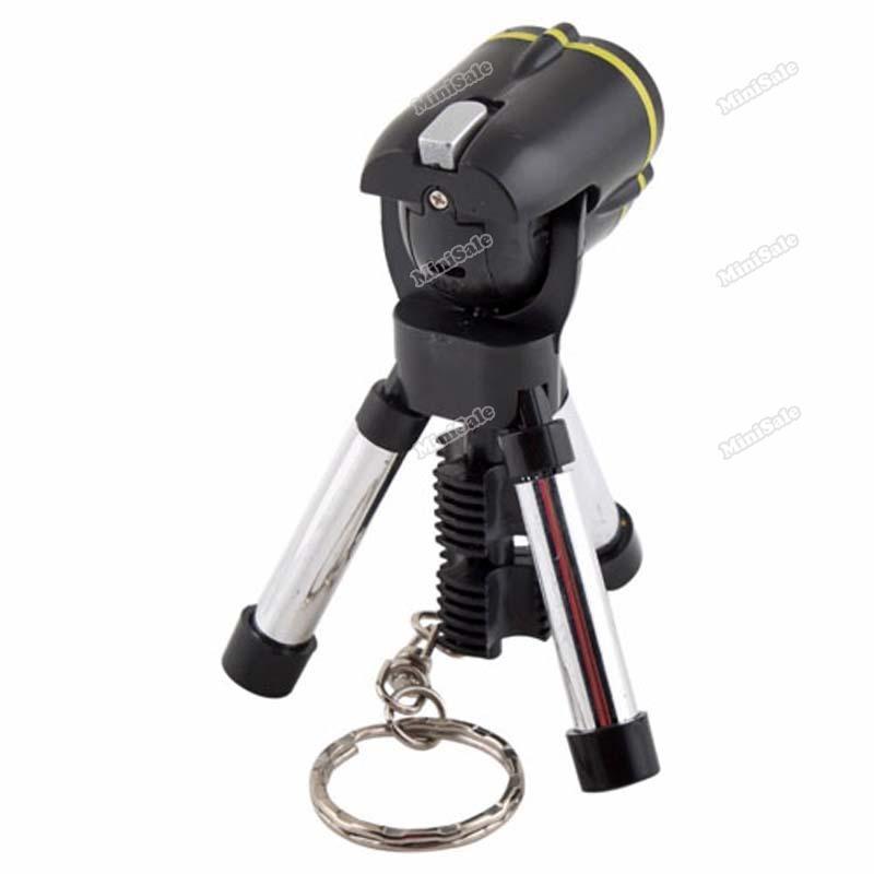 MiniSale Fashionable! Mini Tripod LED Torch Flashlight Keychain Hiking Lamp Underspend!(China (Mainland))