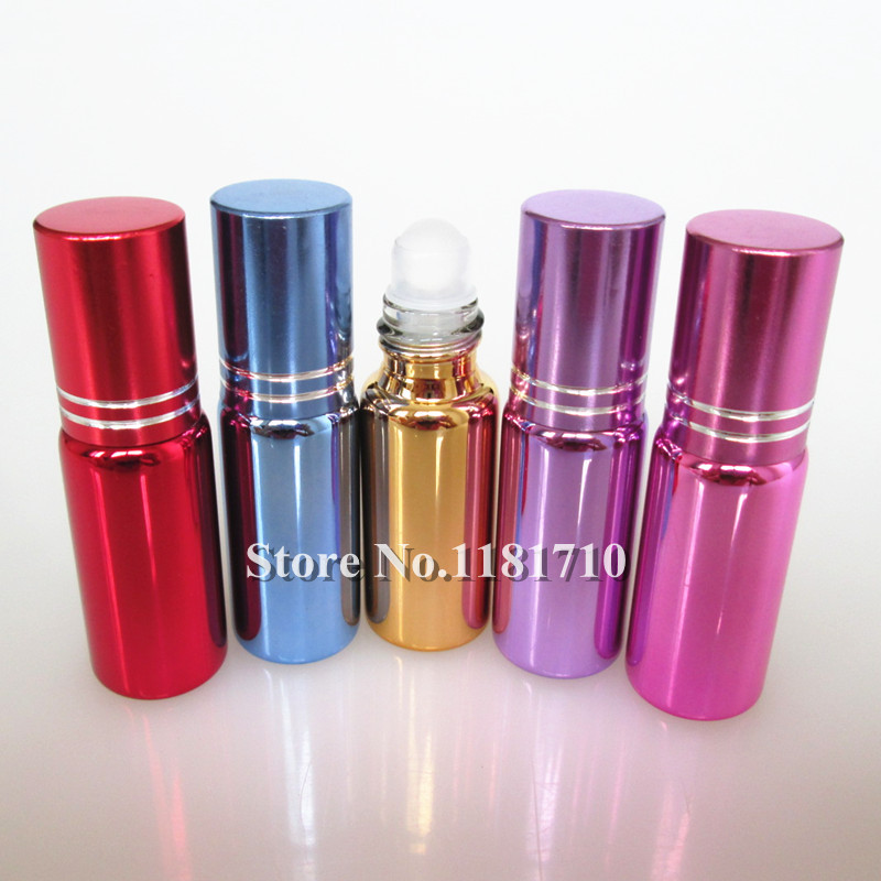 5ml glass roll-on bottle,perfume vials empty ssential oil 1 - Perfume Bottles store