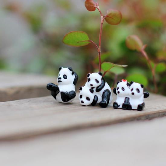 Random Style Micro Landscape Garden Decor Children Toy Mini Cute Panda Ornaments free shipping wholesale(China (Mainland))