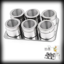 by dhl or ems 200pcs Stainless Steel Magnetic Cruet Condiment Box Set for kitchen Tools(China (Mainland))