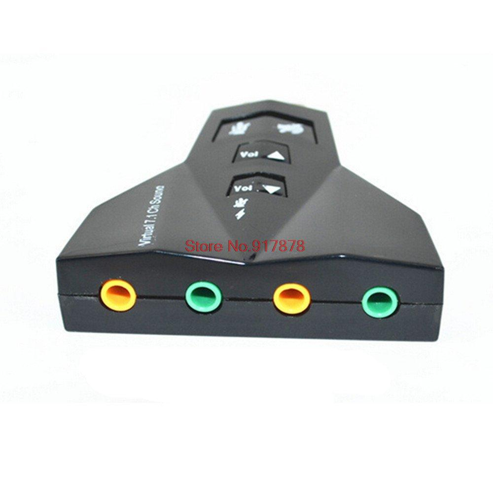 2 in 1 3D External Usb Audio Sound Card 7 1 Digital Dual Virtual 7 1