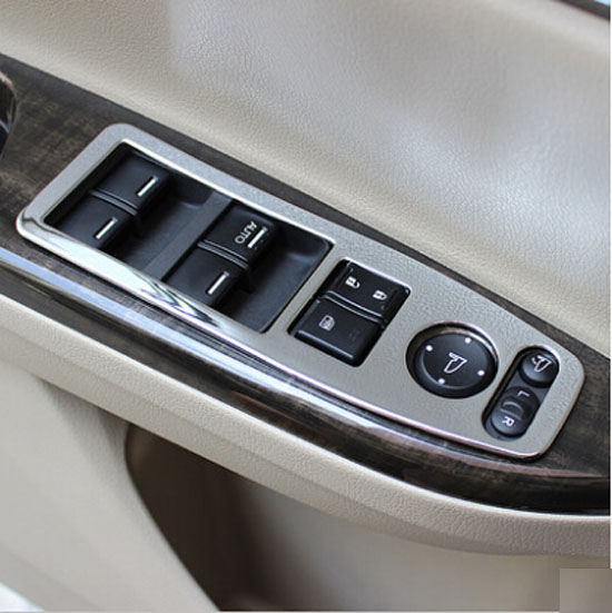 Accessories Fit For Honda Accord 2014 2015 Chrome Interior Door Window Switch Panel Cover Trim