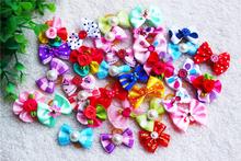 10pcs 20pcs 30pcs Choose Cute Rhinestone Pearls Flowers Mix Style dog bows hair accessories Pet grooming