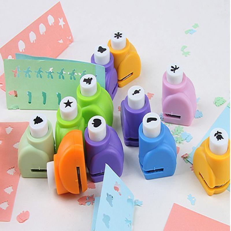 Гаджет  Free Shipping 10pcs/lot Mini Craft Punch Scrapbook Handmade Cut Card Craft Calico Printing DIY Paper Shaper Punch HO None Офисные и Школьные принадлежности