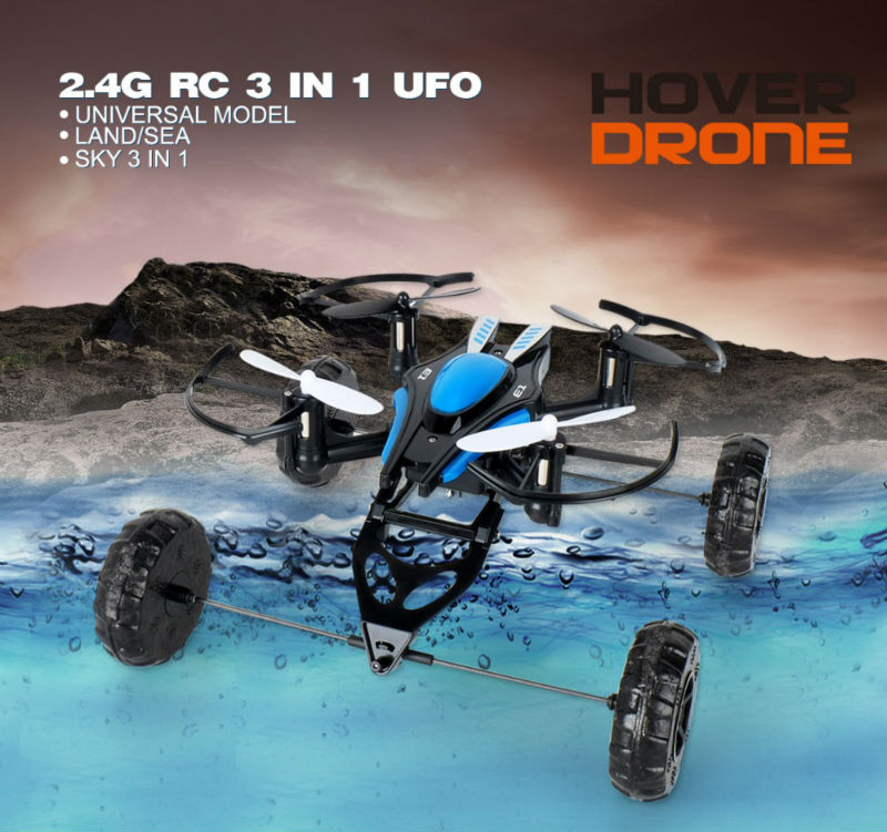2016 New arrival JD503 Air-Land Dual Mode RC Flying Car Drone Quadcopter Mini 3 in 1 UFO VS Syma X9 318B RC Helicopter Toys(China (Mainland))