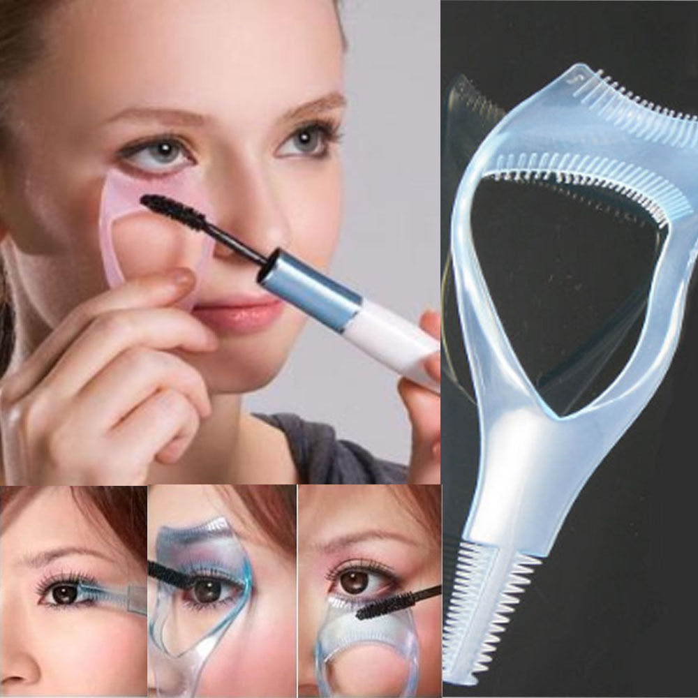 1PC 3 in 1 Mascara Maquiagem Eyelash Brush Curler Lash Eyebrow Comb Cosmetic Tool Hot Maquillaje Brochas Maquillaje(China (Mainland))