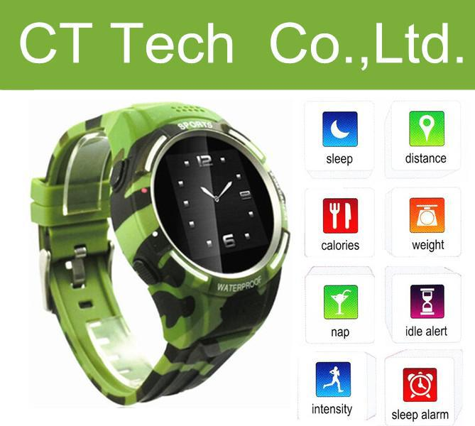 TW320 1.54 inch Sport Touch Screen Black Smart Watch Quad Band Mobile Phone With Pedometer GSM/GPS wristwatches free shipping(China (Mainland))