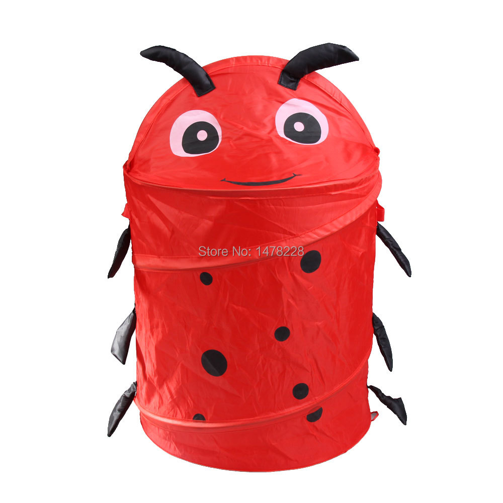 Cute Pop up Folding Storage Bucket Toy Laundry Cylinder Basket Beetle Style B2C Shop(China (Mainland))