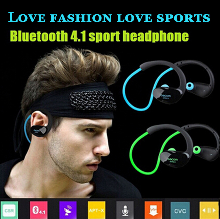 Athlete Dacom NFC Bluetooth 4 1 Headset Wireless Sport Ear Hook font b Headphones b font