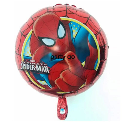 NEW STYLE 50pcs/lot 45*45cm SpiderMan mylar balloons 18inch helium aluminum foil balloons for birthday party decoration balloons(China (Mainland))