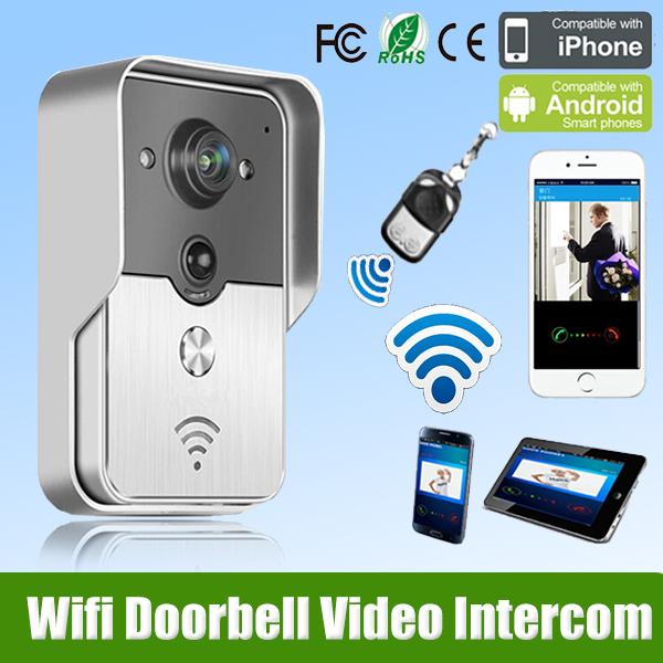 2015 Hot New Wifi Doorbell Camera Wireless Video Intercom Phone Control IP Door Phone Wireless Door bell freeshipping(China (Mainland))