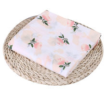 Puseky 110x110cm Newborn Baby Cotton Fruit Plant Animal Soft Muslin Swaddle Shower Bath Towel Blanket Wrap Cloth Bedding Cover(China)