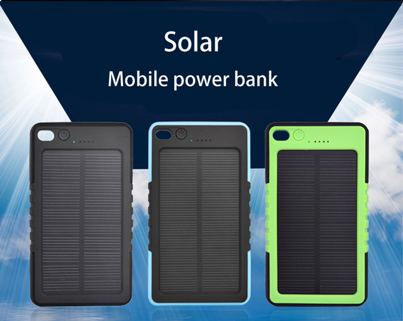 Waterproof Solar Charger 8000mah Solar Power Bank External Battery for smartphone /ipad/camera/iPhone/Samsung