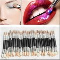 JEYL Hot New 50PCS Eyeshadow Sponge Lip Brush Applicator Double Ended Disposable Makeup Tool New