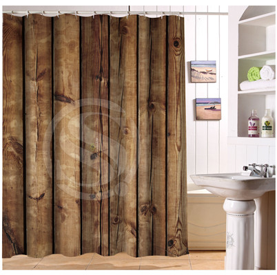 U412-67 Custom Home Decor barn wood background minimalist Fabric Modern Shower Curtain European Style bathroom Waterproof