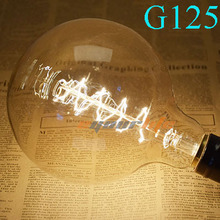 New G125 Edison Light Bulb E27 Incandescent Light Lamps Filament Bulb Edison Lamp for Home Decoration Lighting 99(China (Mainland))