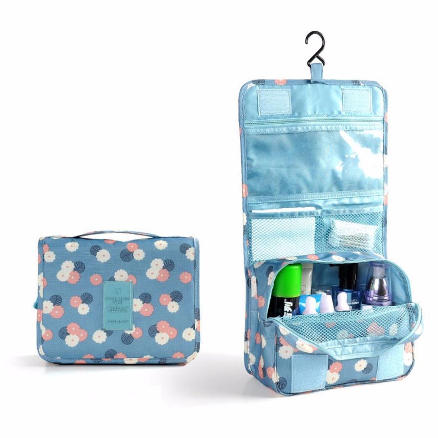 Nylon Cosmetic Cases Large Capacity Women Cosmetic Bag Travel Organizer Bag Multifunction Travel Toiletry Bag Makeup Handbag 45(China (Mainland))
