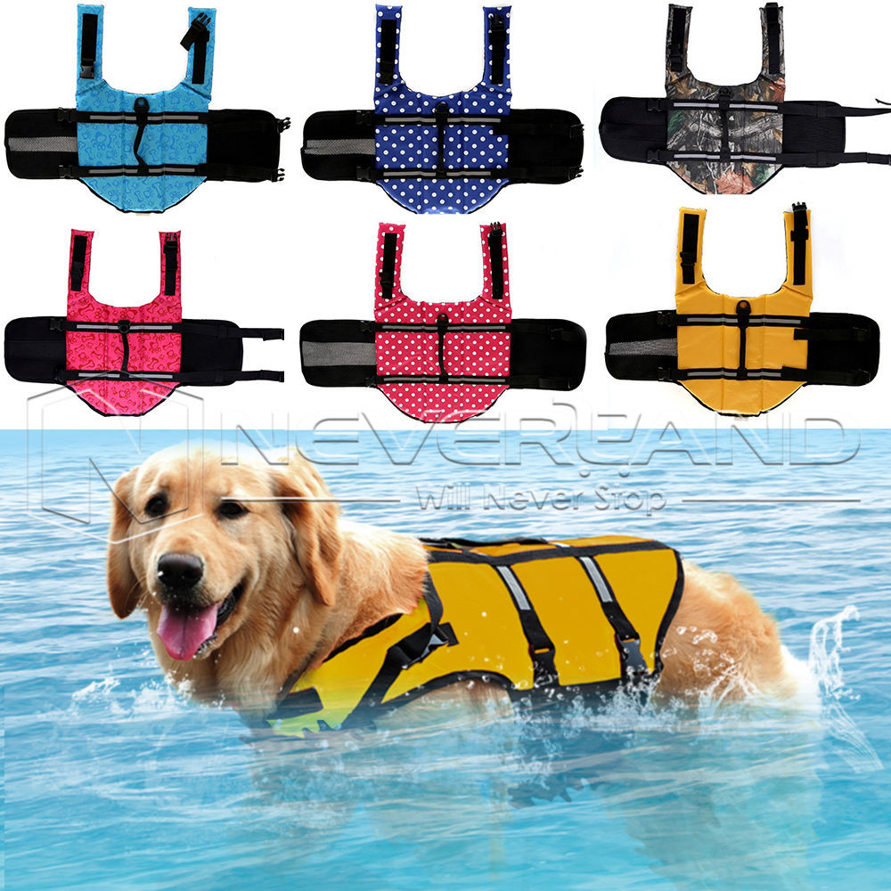 Dog Life Jacket & Pet Swimmer Safety Life Vest Preserver 6 Color XS Sizes(China (Mainland))