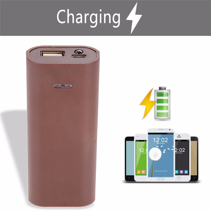 image for 2015 Portable Charger 2 Batteries 18650 Charger USB Power Bank Box DIY