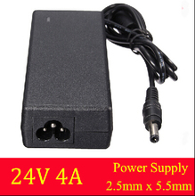 2015 New Arrival AC Universal 100V-240V for DC 24V 4A 96W Power Supply Charger Converter Adapter For LED Strip 2.5×5.5mm