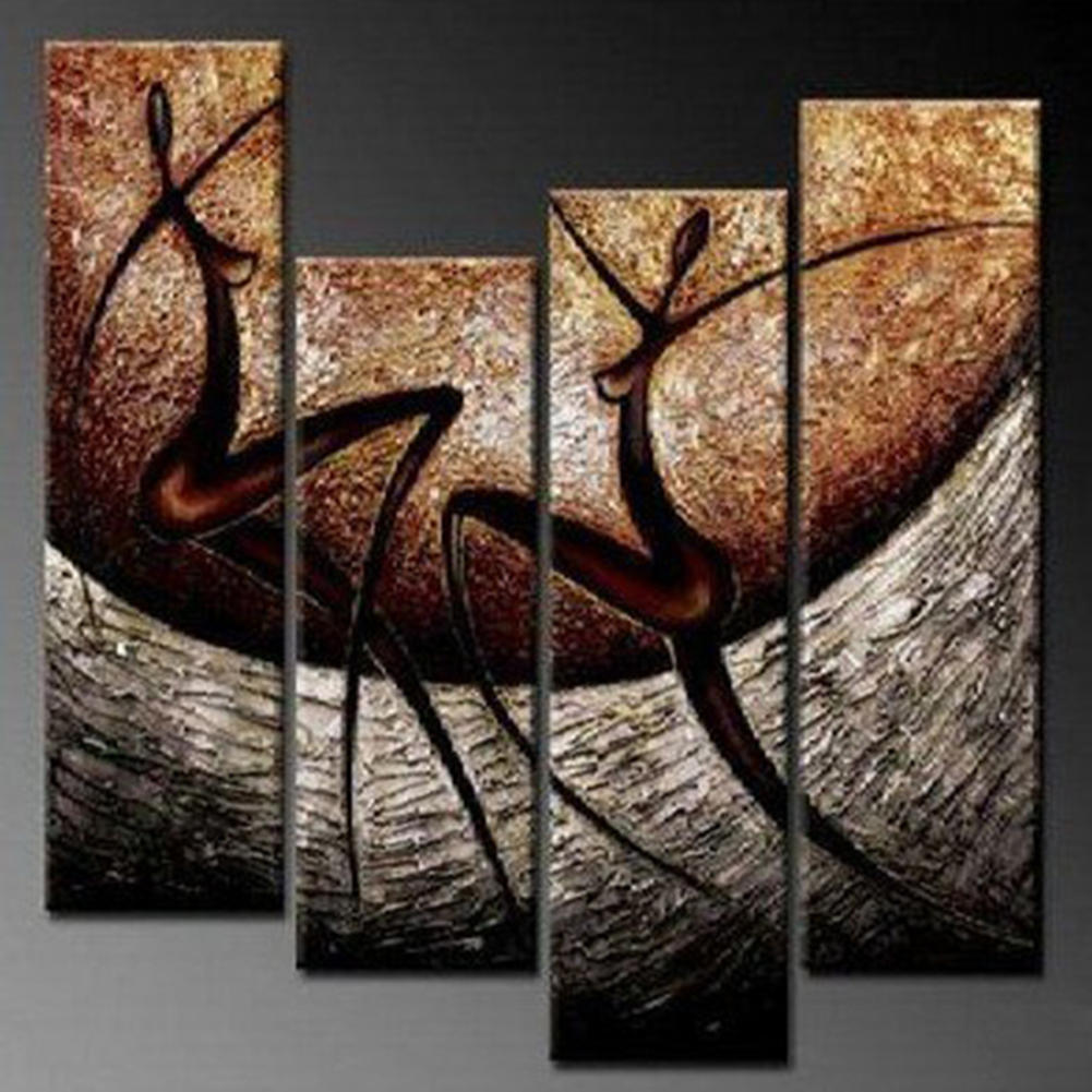 Modern Abstract Woman Dancing Handmade Oil Painting Drawing by Numbers on Canvas Wall Picture Home Living Room Decor Portrait(China (Mainland))