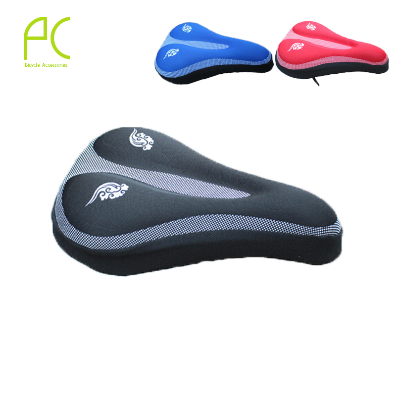 Free Shipping! 3 Color New Cycling Bike Saddle Comfortable Cushion Soft Pad Bicycle Seat Cover More Gel Wear Durable(China (Mainland))