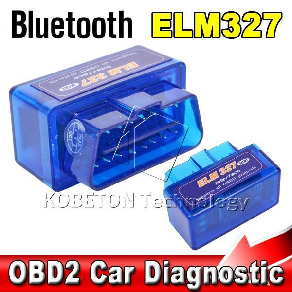 Bluetooth ELM327 Interface Code Readers ELM 327 V2.1 Smart Car Vehicle Diagnostic Scanner Tool ODB2/OBDII Protocols Android(China (Mainland))