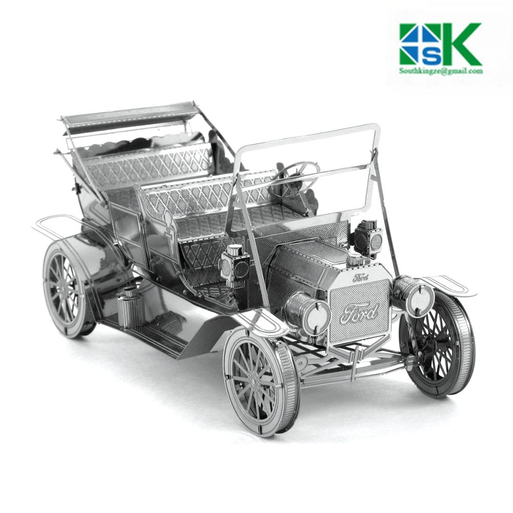 The Most Challenge DIY Model VEHICLES 3D Metal Model Puzzles 1908 FORD MODEL T Stainless Steel Creative Gifts ICONX(China (Mainland))