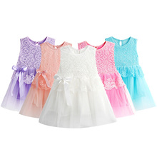 Hot New Infant Baby Girl Tutu Dress vestidos Kids Cute Lace Flower Summer Party Princess Dresses baby girl Christmas Clothes Z3(China (Mainland))