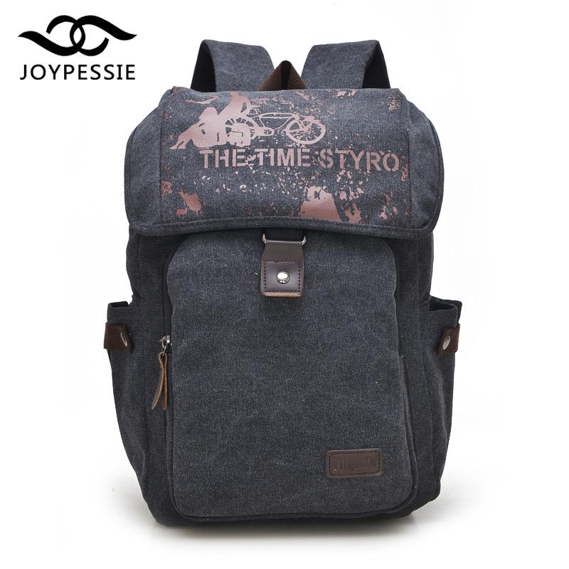 JOYPESSIE Korea Style Fashion Backpacks Men and Women Preppy Style Soft Back Pack Unisex School Bags Big Canvas Bag(China (Mainland))