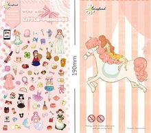 Funny Cartoon Little Princess series Green Paper sticker/Decoration label/Phone stickers/DL.1100 - YES Stationery Gift Store store