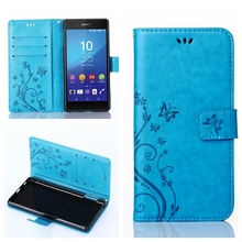 Buy Stand Style Butterfly Flip Leather Case Phone Wallet Soft Cover Sony Xperia M2 S50h Experia Dual Sim D2302 D2305 D2303 D2306 for $2.84 in AliExpress store